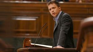 El diputado de Más País Íñigo Errejón interviene en el pleno celebrado este martes en el Congreso de los Diputados.
