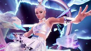 El avatar de Ariana Grande en un concierto virtual.