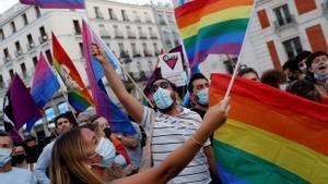 Manifestación del colectivo LGTBI en Madrid